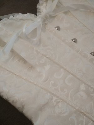 Bustino bianco sporco Tessuto misto