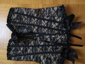 Corsage noir-gris brun