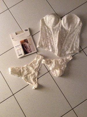 di Lorenzo Conjunto de lencería blanco puro