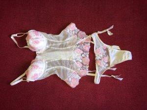 KRISS Bustino bianco-rosa chiaro