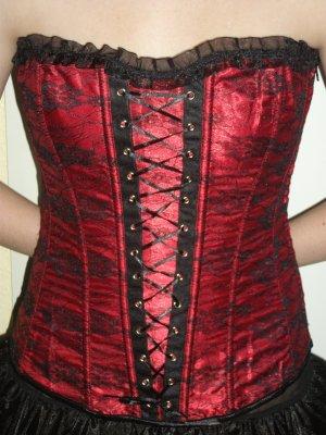 Corsage black-dark red polyester