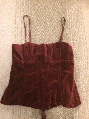 Ralph Lauren Haut type corsage bordeau