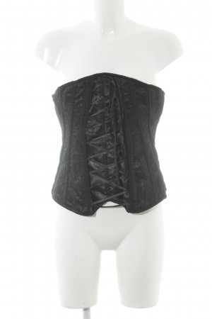 Corsage schwarz extravaganter Stil