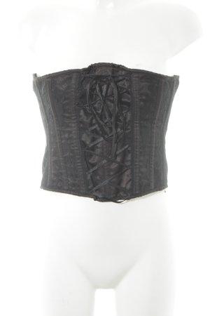 Corsage noir style extravagant