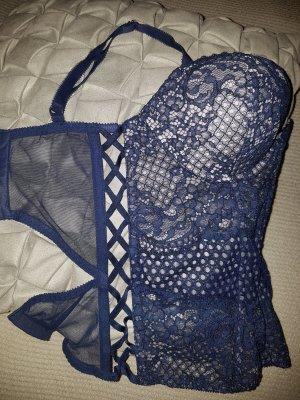 Corsage von Victoria's Secret, Gr 34C, blaue Spitze