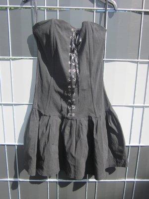 Corsagen Kleid schwarz Bandeau  Schnürung Gr 36