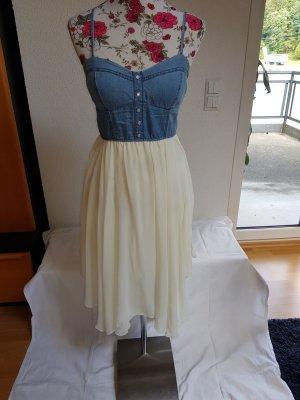 Tally Weijl High Low Dress natural white-azure