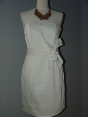 H&M Corsage Dress white cotton