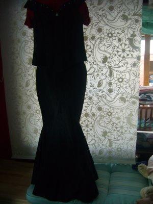 Corsagenkleid zweiteilig schwarz Rock in A-Form, figurumspielend Gr 38
