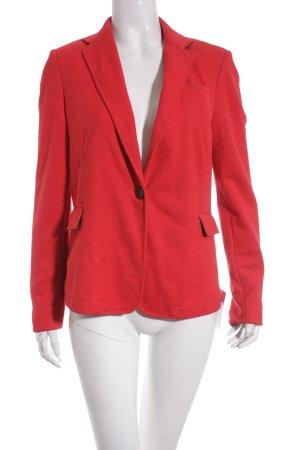 Cortefiel Jerseyblazer rot-schwarz Business-Look