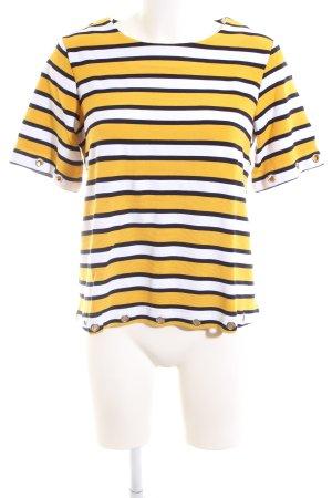 Cortefiel Sweater met korte mouwen gestreept patroon casual uitstraling