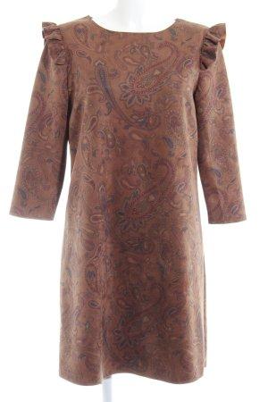 Cortefiel Vestido tipo túnica estampado con diseño abstracto estilo sencillo