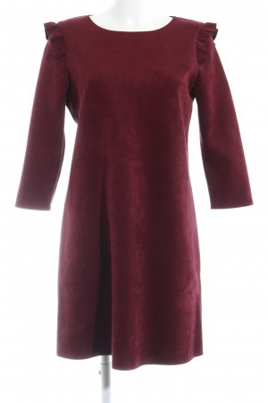 Cortefiel Vestido tipo túnica burdeos estilo sencillo