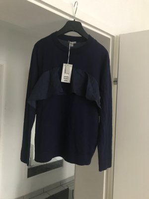 COS Short Sleeve Sweater blue