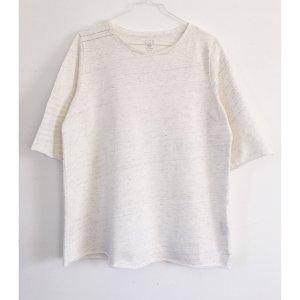 COS A-Linie Sweater weiß grau meliert M 38 40 Basic Shirt Pullover Rundhals
