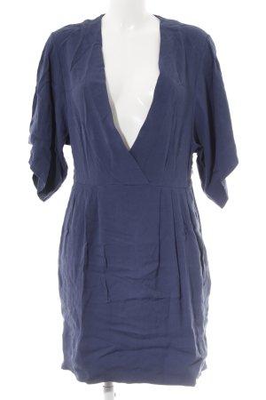COS A-Linien Kleid blau klassischer Stil