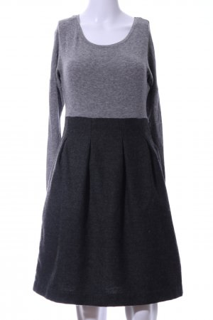 COS A Line Dress light grey-black flecked business style