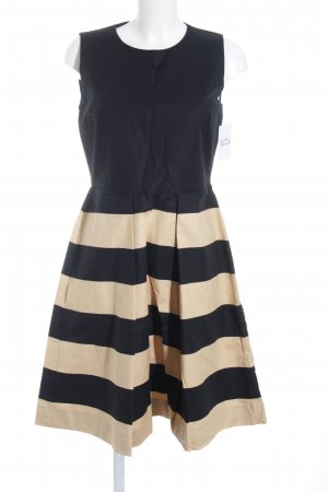 COS A Line Dress black-beige striped pattern business style