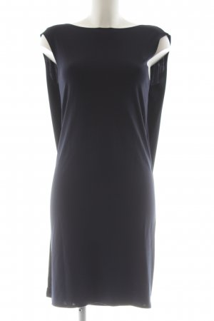 COS Abendkleid blau Allover-Druck Elegant