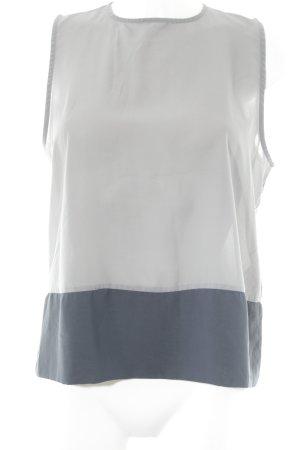 COS ärmellose Bluse grau-graublau Colourblocking Elegant