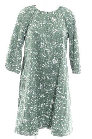 COS Babydoll Dress white-khaki abstract pattern elegant