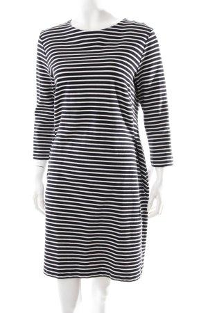 Cos Ballonkleid schwarz-weiß Streifenmuster schlichter Stil