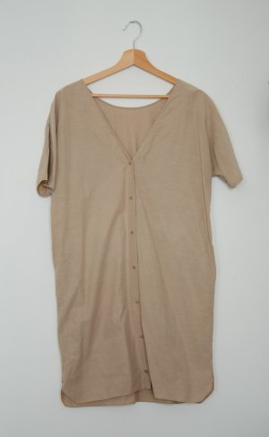 COS – beige Kleid mit Knöpfen