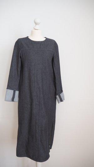COS BLACK DENIM DRESS MINIMAL-MODE