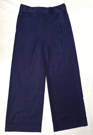 COS blaue Wollhose mit angenähtem Gürtel Gr. 38