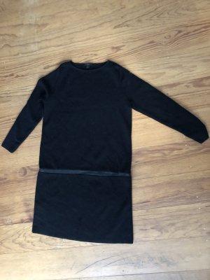 Cos Blogger Woll Kleid Leder XS 32 34