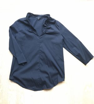COS Stand-Up Collar Blouse dark blue