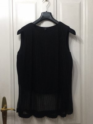 COS Short Sleeved Blouse black