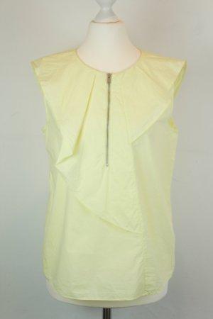 COS Bluse Gr. 36 blassgelb ärmellos Reißverschluss