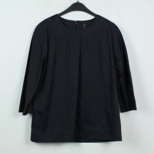 COS Long Sleeve Blouse dark blue cotton