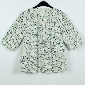 COS Long Sleeve Blouse multicolored cotton