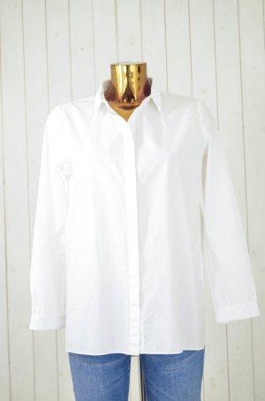 COS Bluse Hemd Langarm Kragen Weiß Baumwolle Gr.38