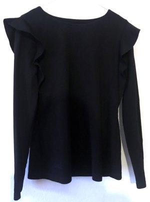 COS Bluse / longsleeve mit Rüschen Gr 36 schwarz / black