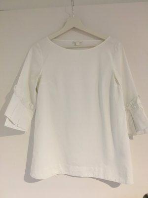 COS Ruffled Blouse white cotton