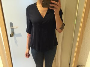 Cos Bluse Top Shirt dunkelblau 100% Curpo