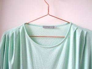 COS Bluse Top Shirt fliessend mint grün pastell Falten Raffung