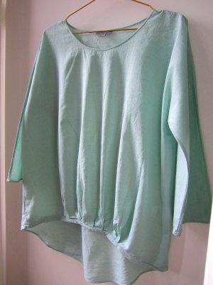 COS Bluse Top weit luftig Falten Baumwolle pastell mint grün