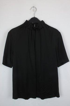 COS Blouse à col montant noir tissu mixte