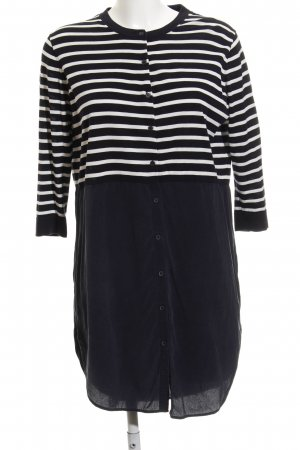 COS Blouse Dress dark blue-natural white striped pattern casual look