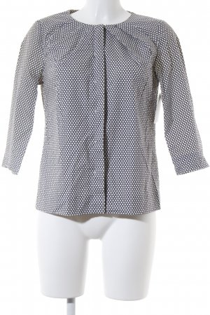 COS Blouse Top dark blue-white spot pattern simple style