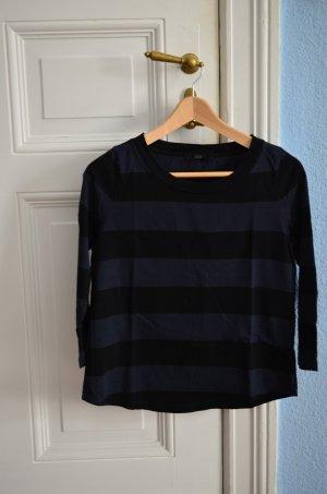 Cos Boxy Kastiges Shirt Streifen Top blau schwarz Mariniere gr S