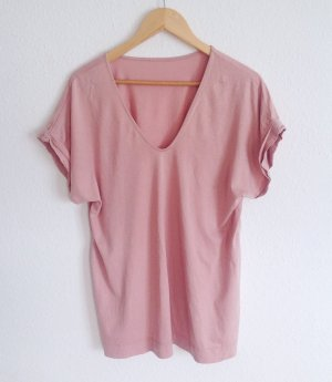 Cos Boyfriend Oversize Baumwolle Shirt Cosy Yoga Wear Altrosa Nude M L 36 38 40