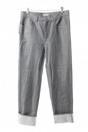 COS Boyfriendjeans grau Metallic-Optik