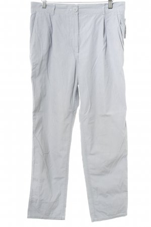 COS Bundfaltenhose graublau-weiß Streifenmuster Business-Look