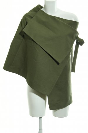 COS Cape olive green weave pattern casual look