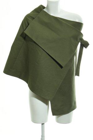 COS Capa verde oliva Patrón de tejido look casual